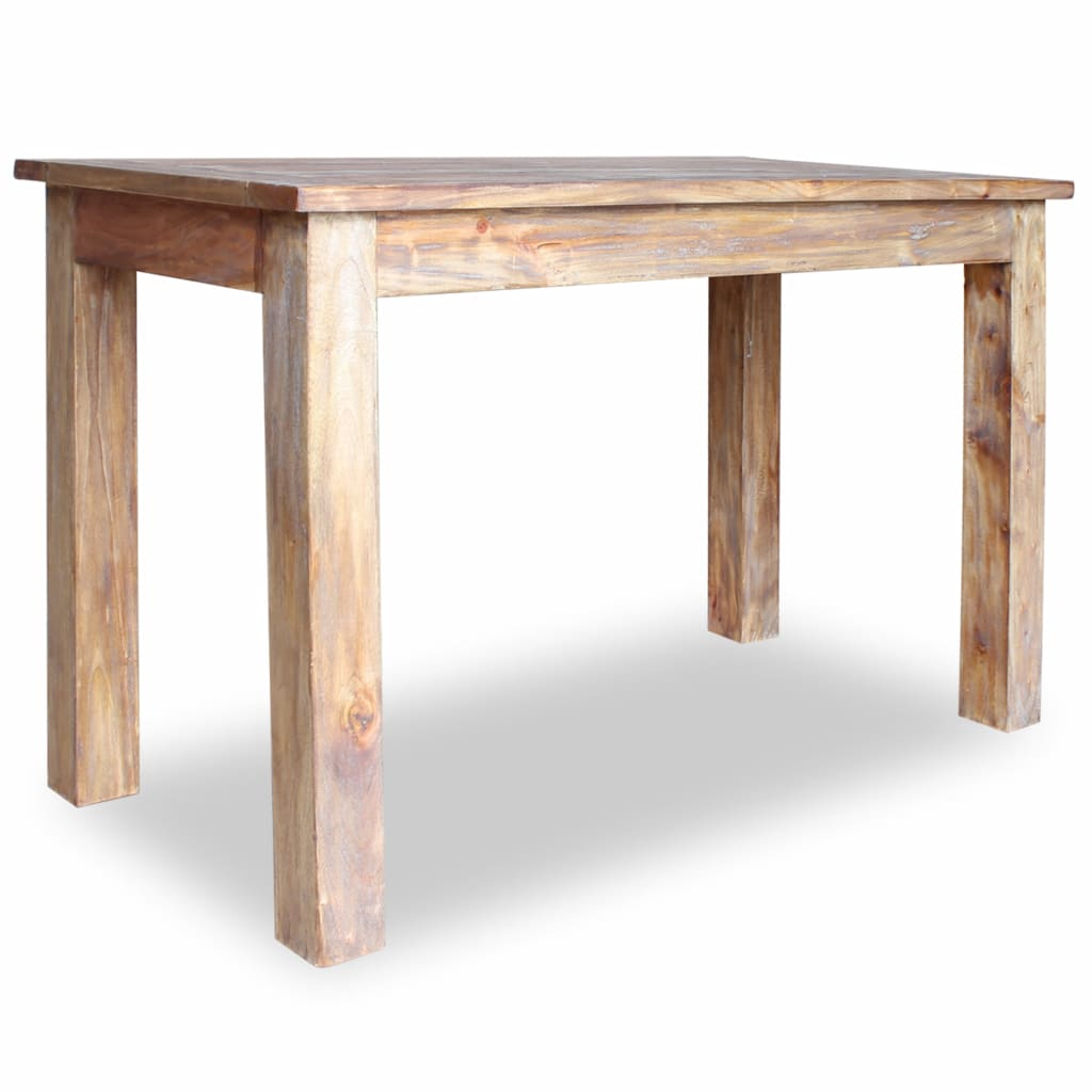 Dining Table Solid Reclaimed Wood 120x60x77 cm 3