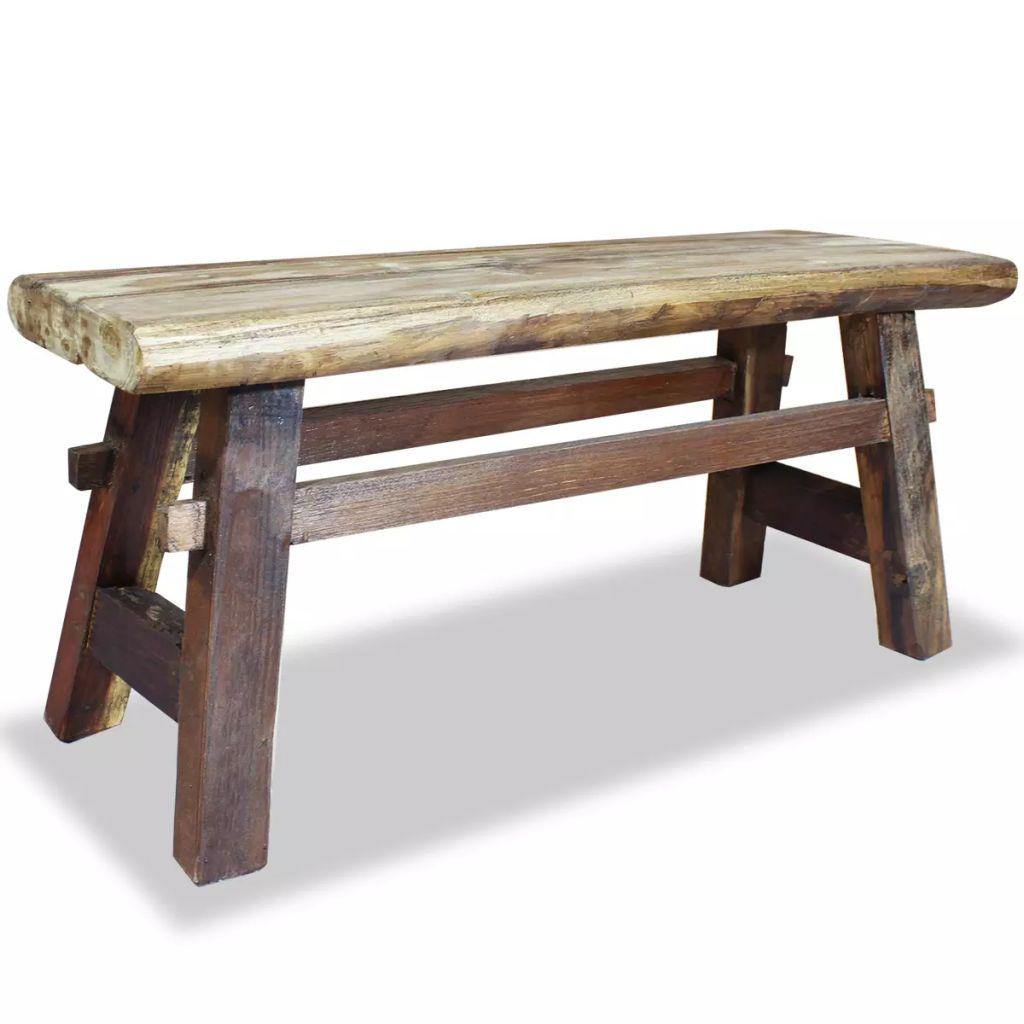 Bench Solid Reclaimed Wood 100x28x43 cm 1
