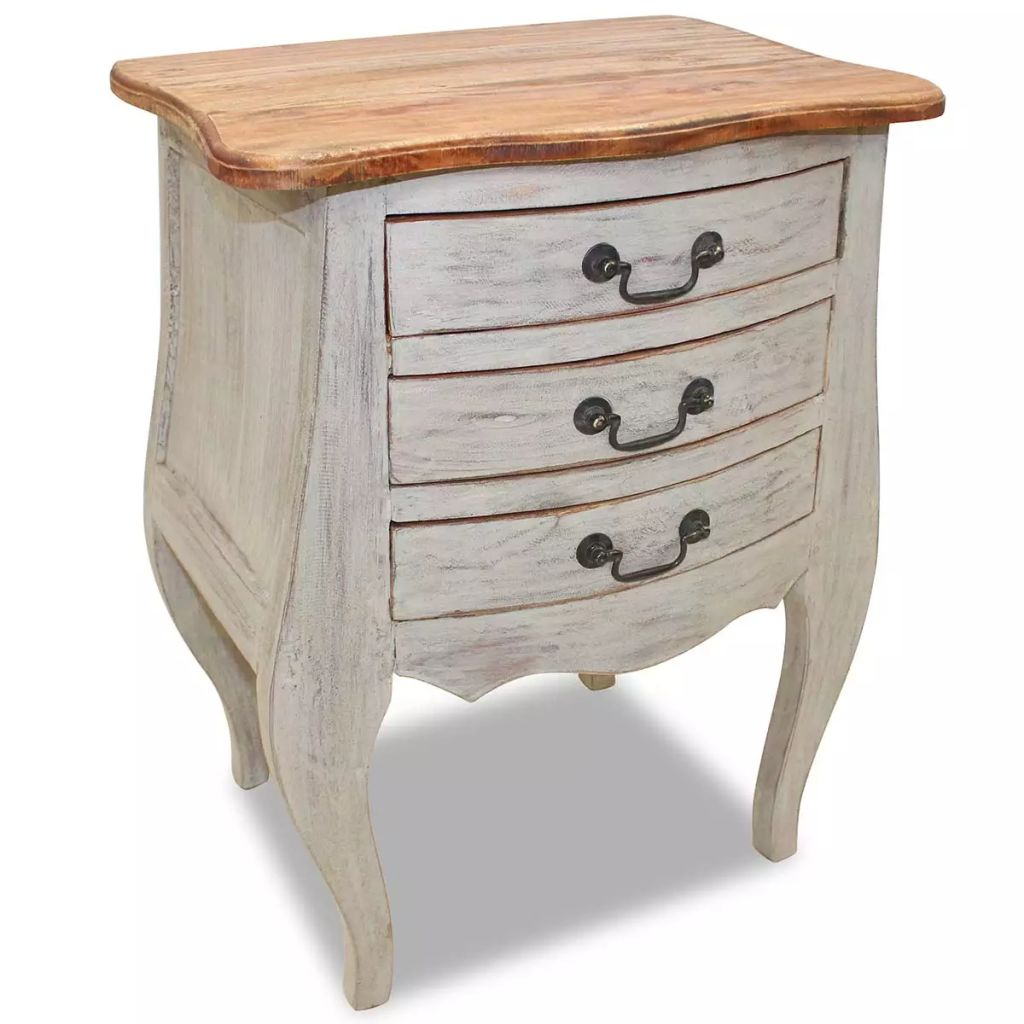 Bedside Cabinet Solid Reclaimed Wood 48x35x64 cm 1