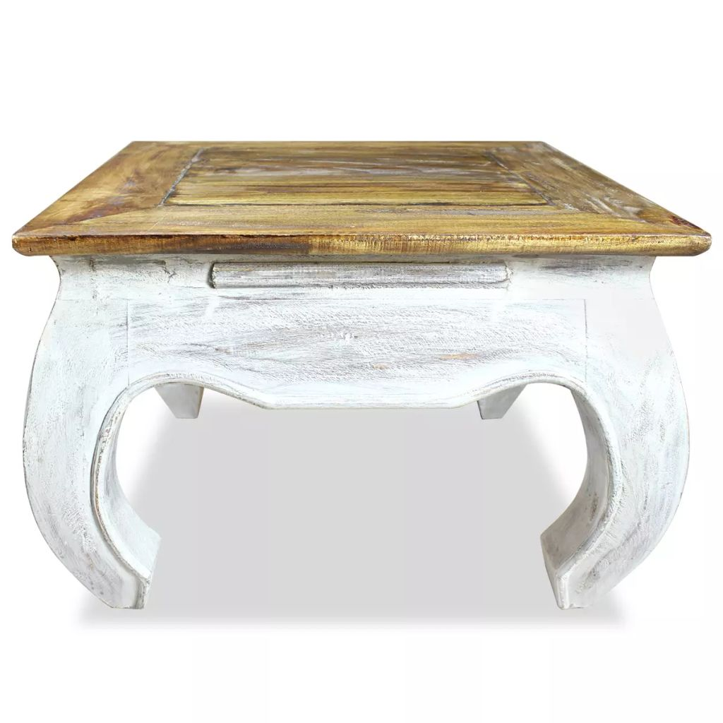Side Table Solid Reclaimed Wood 50x50x35 cm 2
