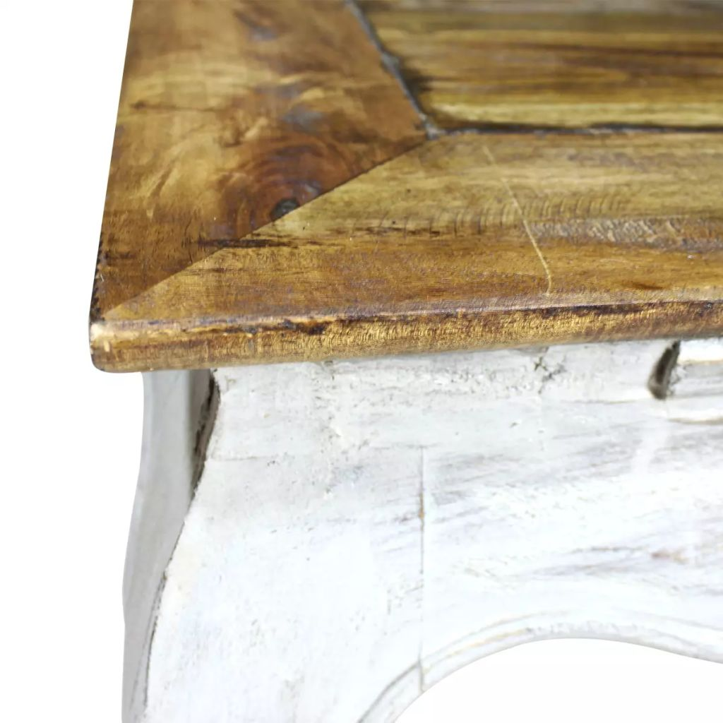 Side Table Solid Reclaimed Wood 50x50x35 cm 3