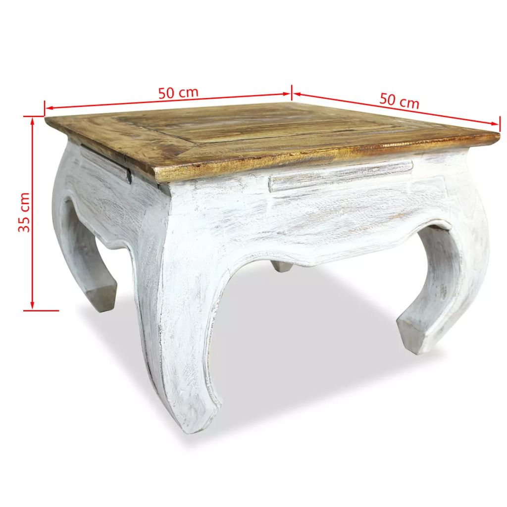 Side Table Solid Reclaimed Wood 50x50x35 cm 4