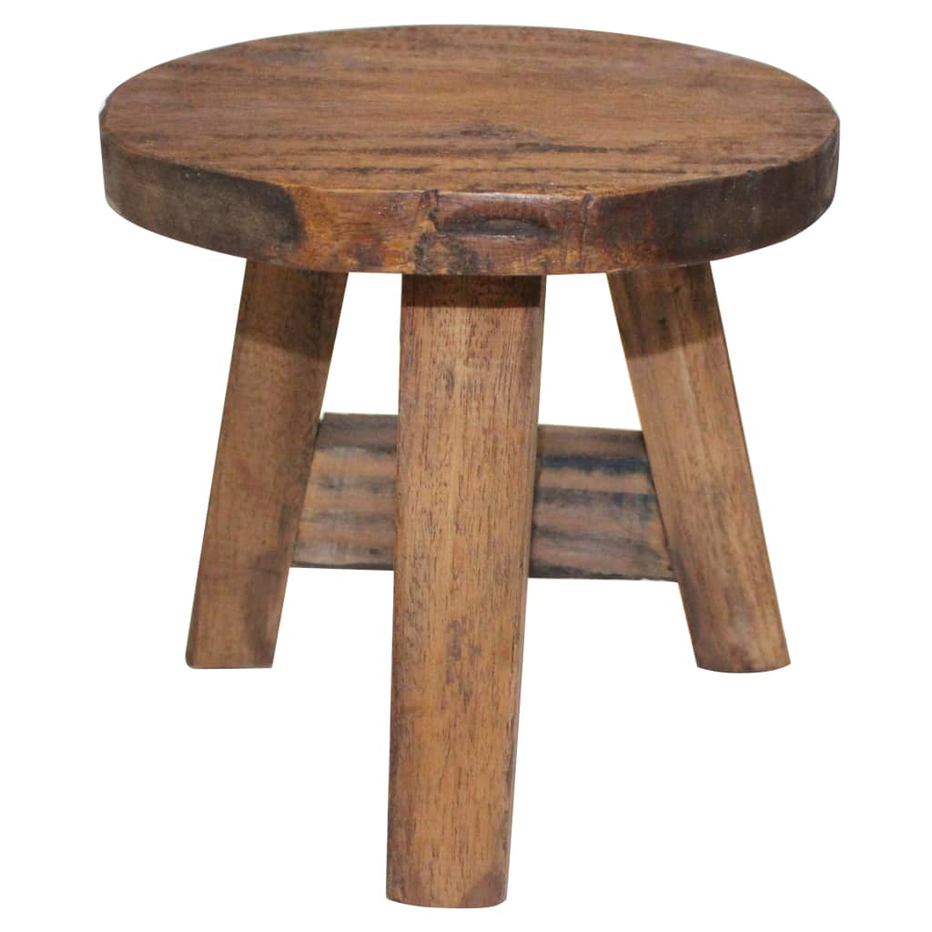 Stool Solid Reclaimed Wood 1