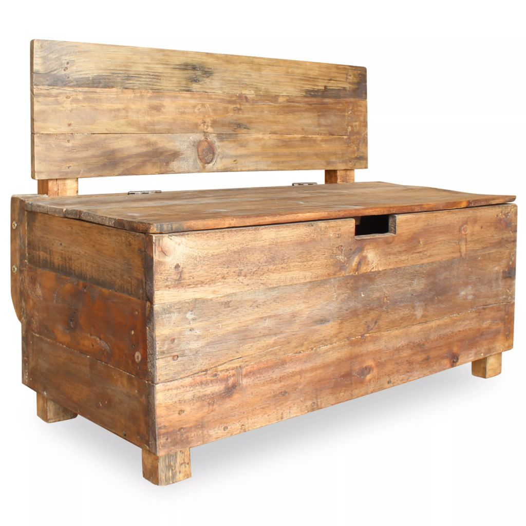 Bench Solid Reclaimed Wood 86x40x60 cm 1