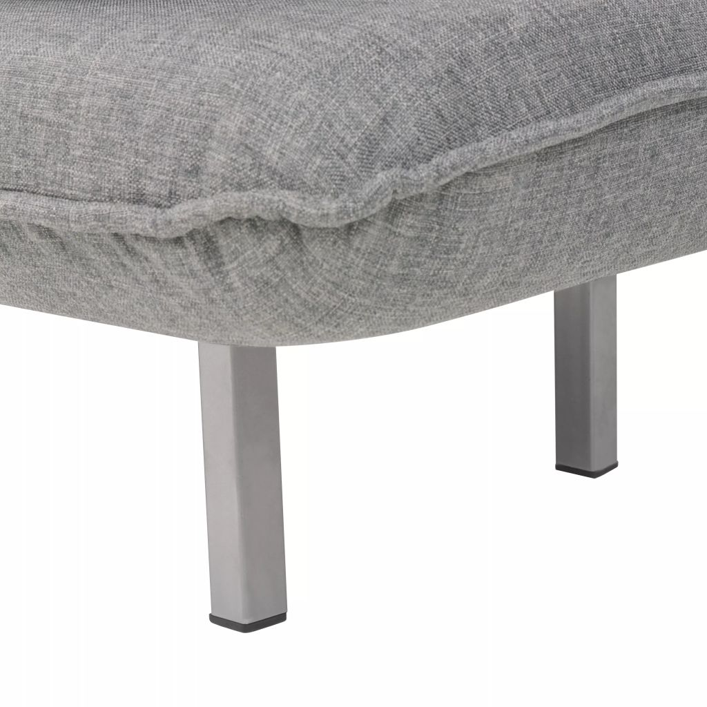 Swivel Chair and Sofa Bed Light Grey Fabric 11