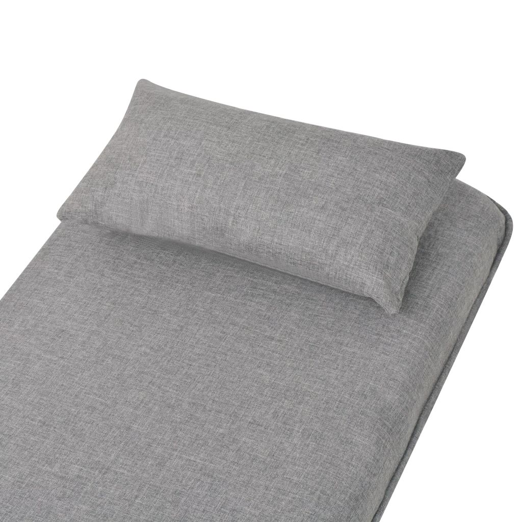 Swivel Chair and Sofa Bed Light Grey Fabric 9