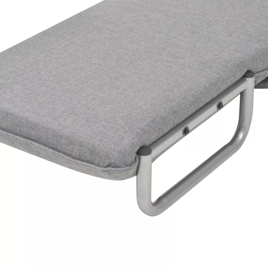 Swivel Chair and Sofa Bed Light Grey Fabric 10