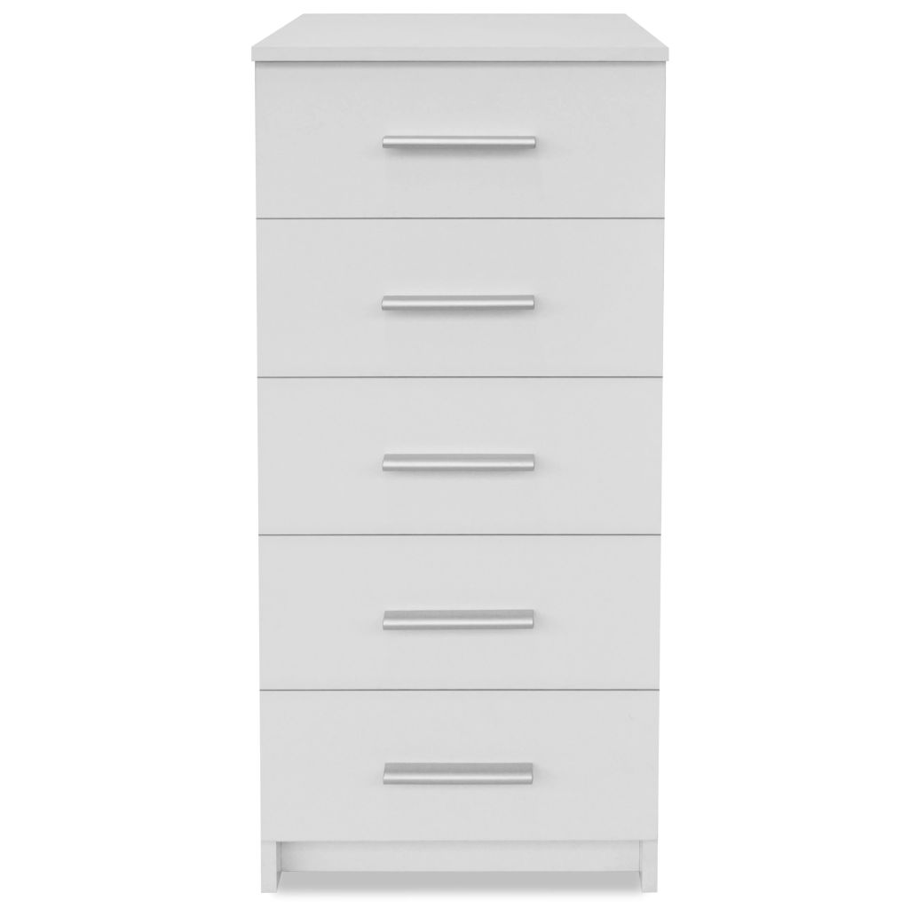 Tall Chest of Drawers Chipboard 41x35x108 cm White 4