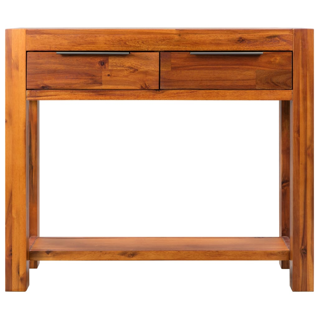 Console Table Solid Acacia Wood 86x30x75 cm 2
