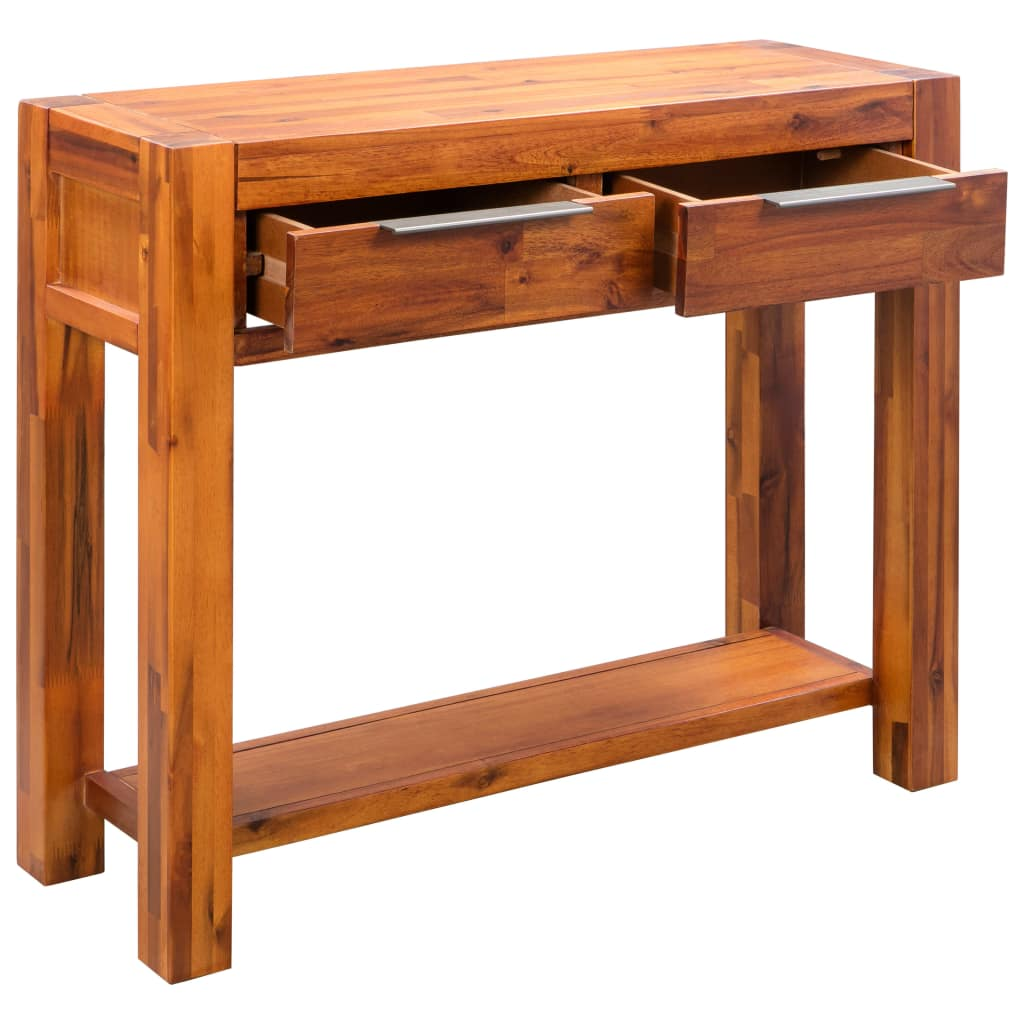 Console Table Solid Acacia Wood 86x30x75 cm 4