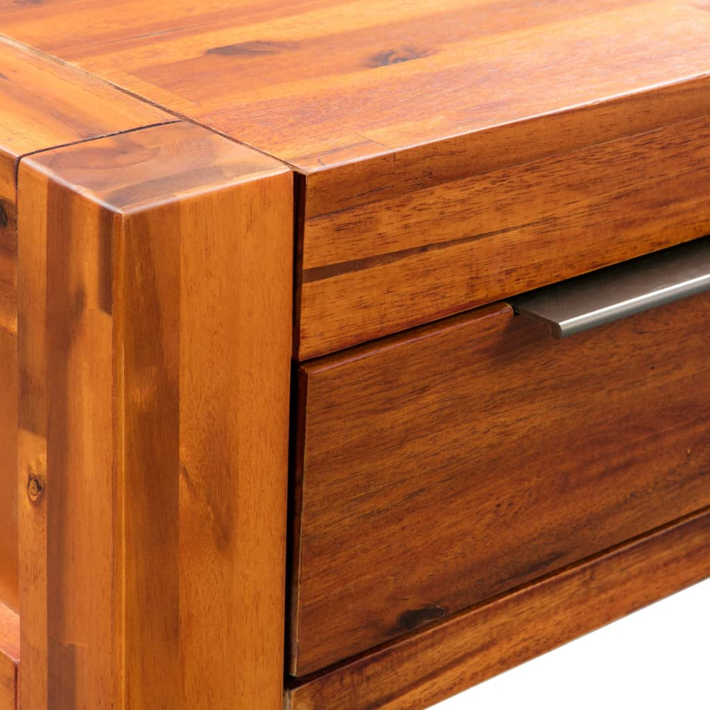 Console Table Solid Acacia Wood 86x30x75 cm 5
