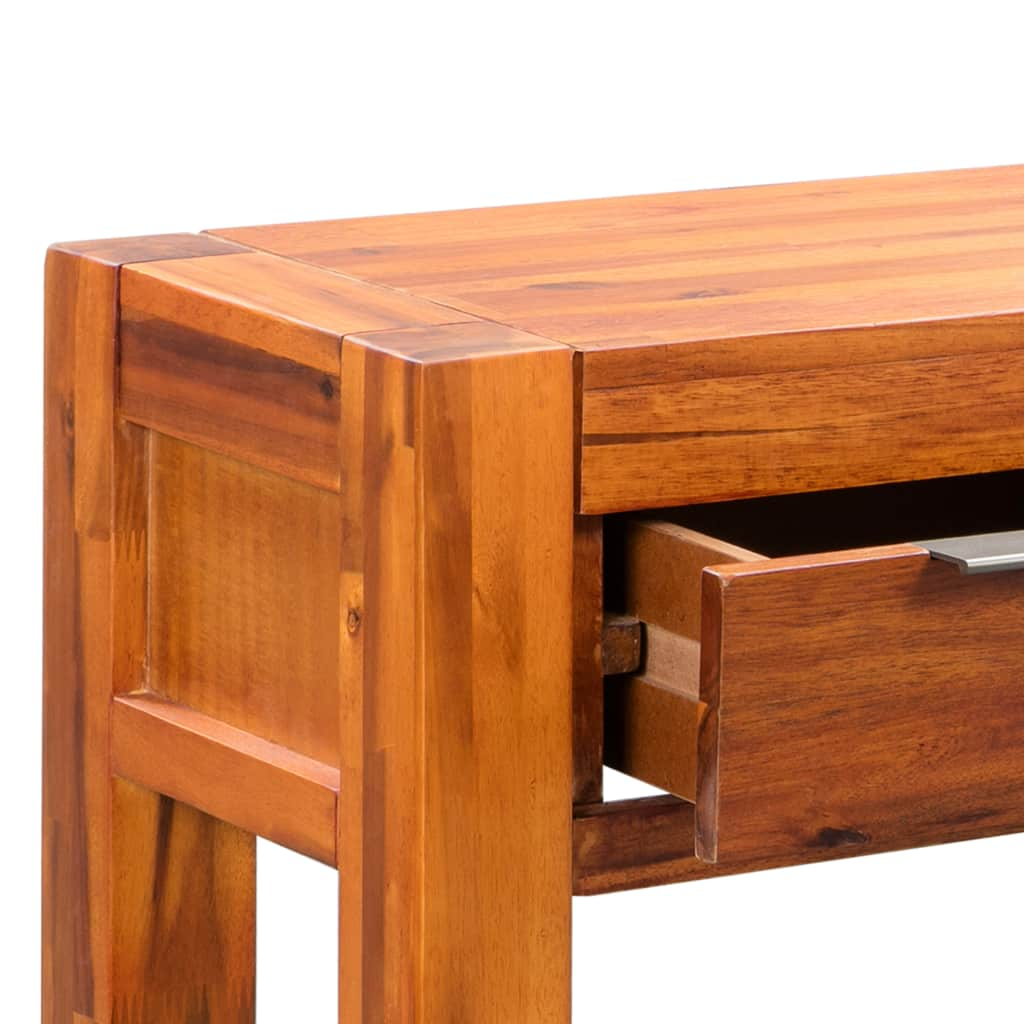 Console Table Solid Acacia Wood 86x30x75 cm 6