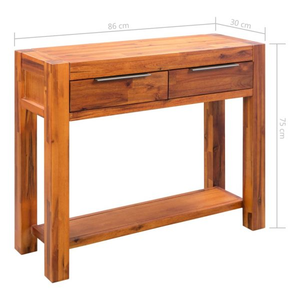Console Table Solid Acacia Wood 86x30x75 cm 8