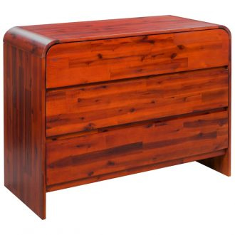Chest of Drawers Solid Acacia Wood 90x37x75 cm 1