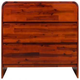 Chest of Drawers Solid Acacia Wood 90x37x75 cm 2