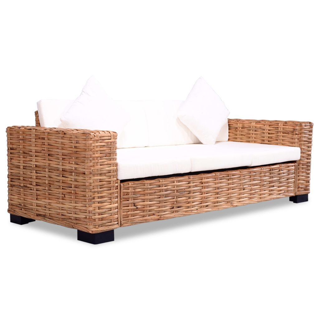 2 Piece Sofa Set Natural Rattan 3