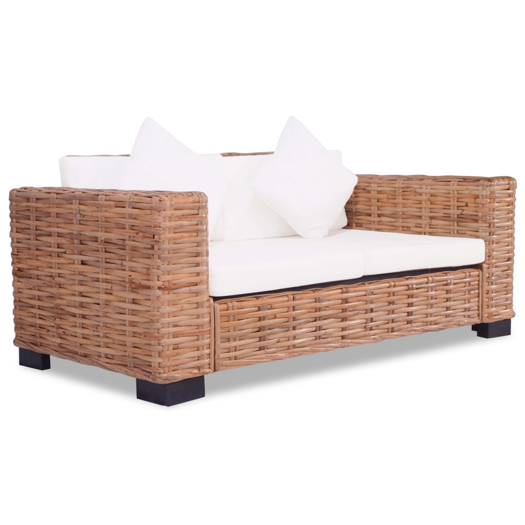 2 Piece Sofa Set Natural Rattan 4