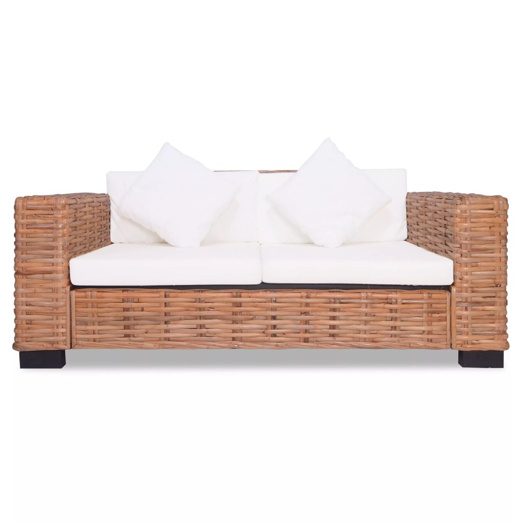 2 Piece Sofa Set Natural Rattan 5