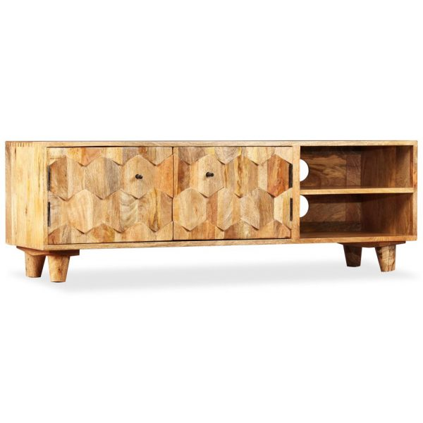 TV Cabinet Solid Mango Wood 118x35x40 cm 1