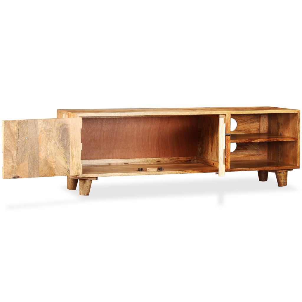 TV Cabinet Solid Mango Wood 118x35x40 cm 6
