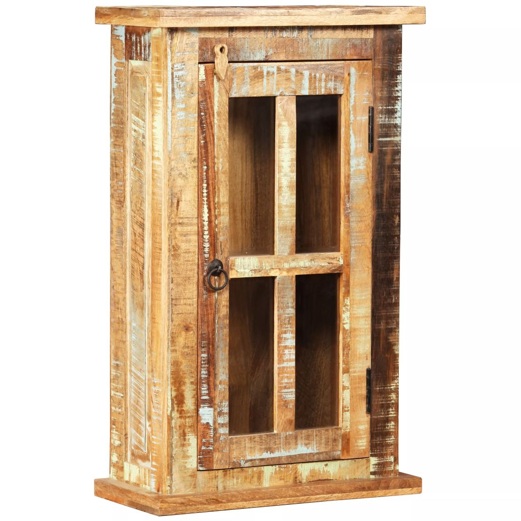 Wall Cabinet Solid Reclaimed Wood 44x21x72 cm 1