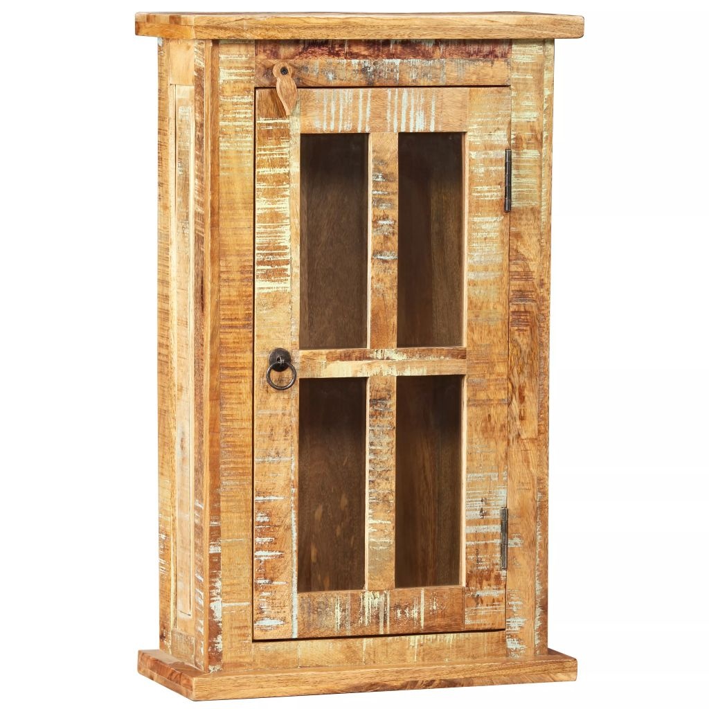 Wall Cabinet Solid Reclaimed Wood 44x21x72 cm 7