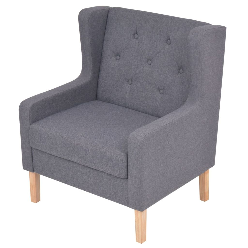 Armchair Grey Fabric 3