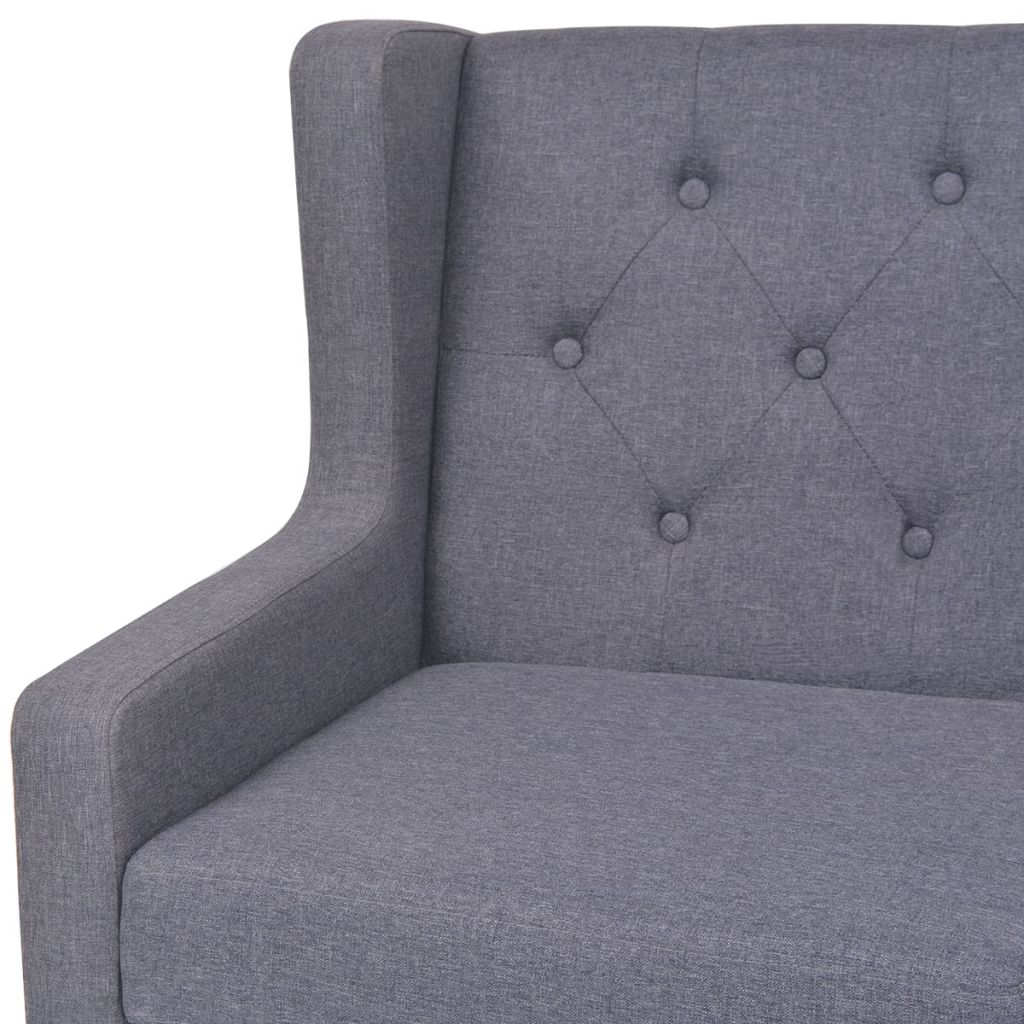 2-Seater Sofa Fabric Grey 5