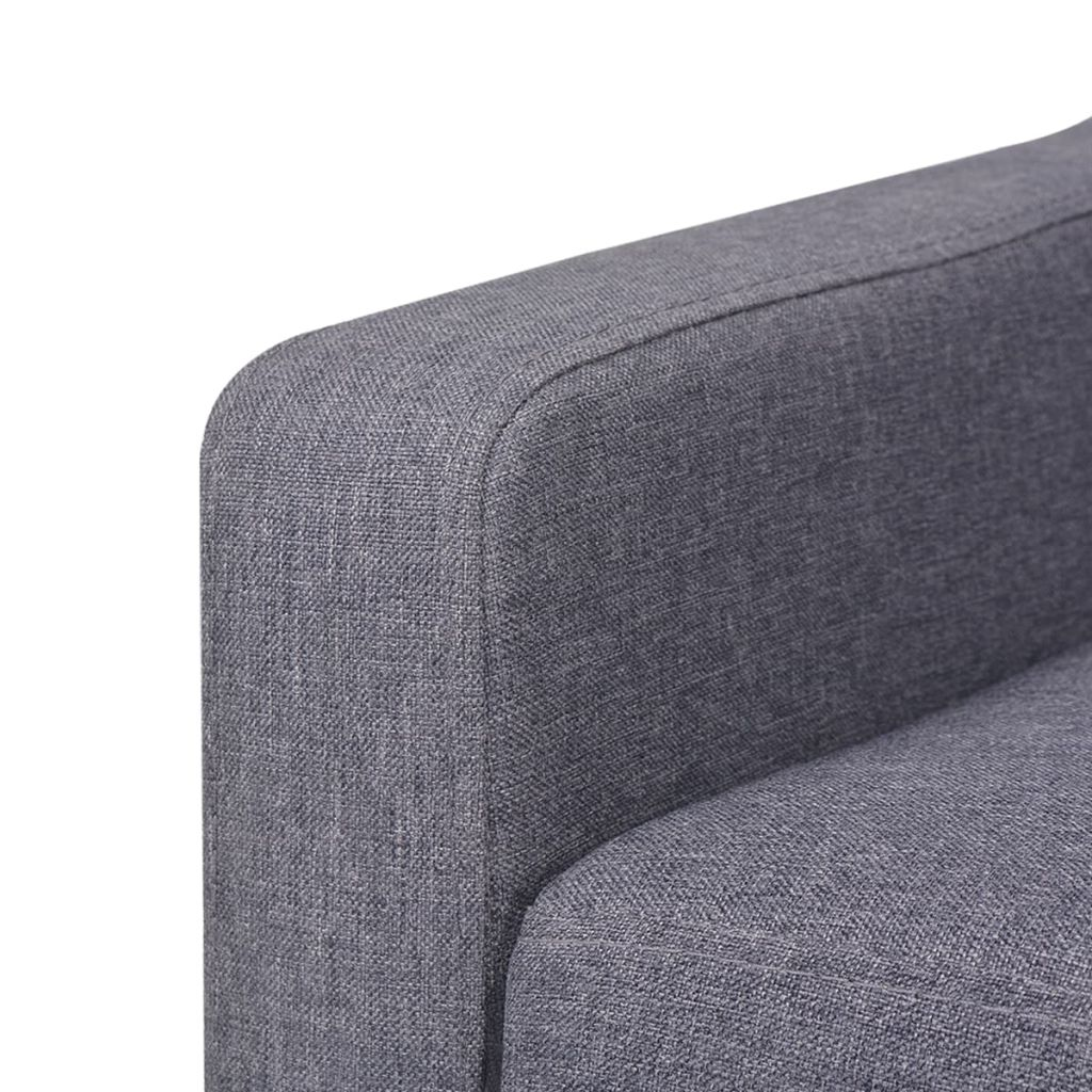 2-Seater Sofa Fabric Grey 6
