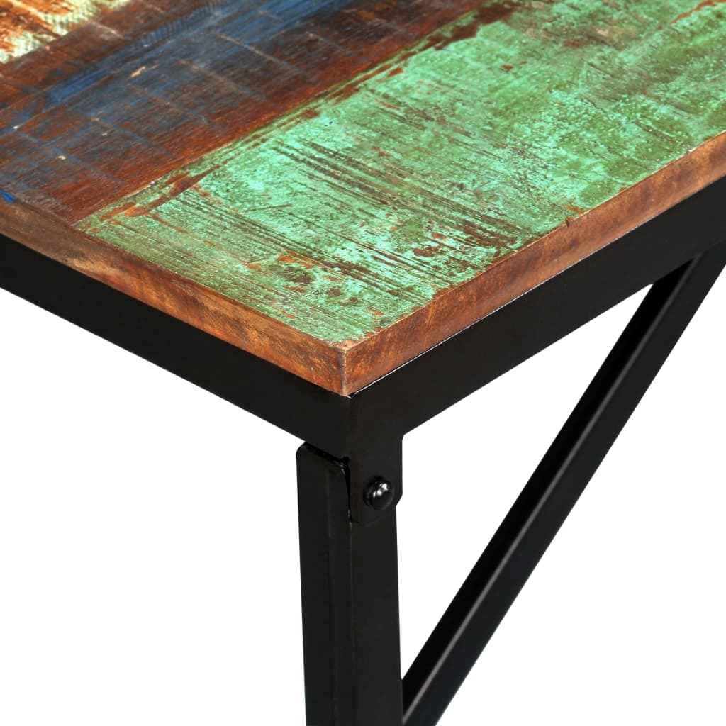 Bench Solid Reclaimed Wood 160x35x45 cm 4
