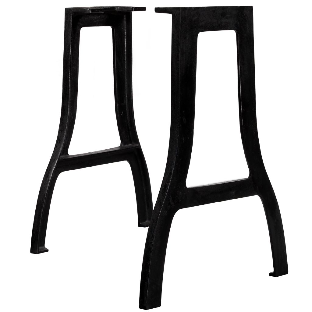 Dining Table Legs 2 pcs A-Frame Cast Iron 1