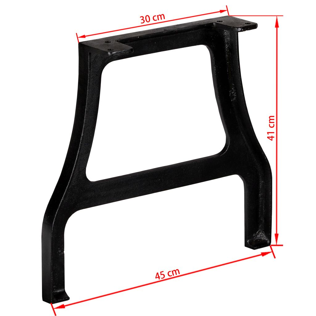 Coffee Table Legs 2 pcs A-Frame Cast Iron 10