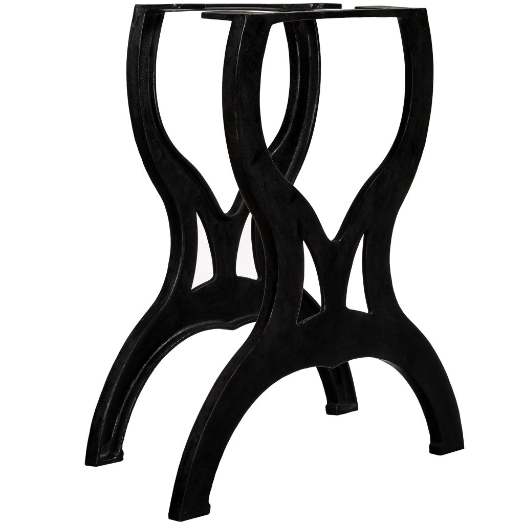 Dining Table Legs 2 pcs X-Frame Cast Iron 1
