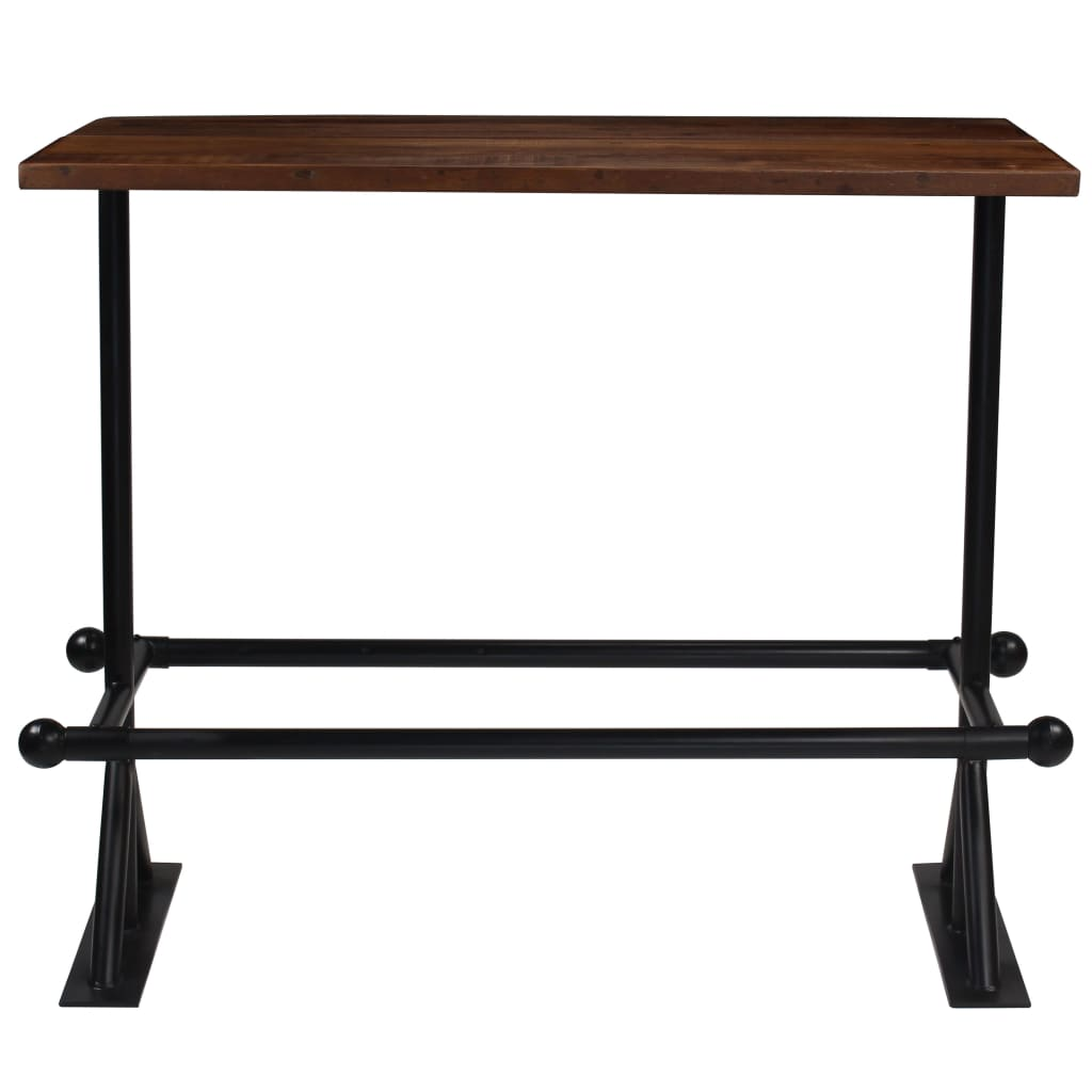 Bar Table Solid Reclaimed Wood Dark Brown 150x70x107 cm 2