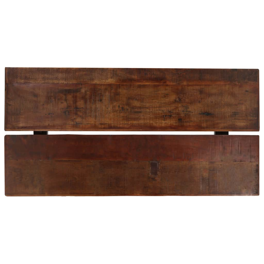 Bar Table Solid Reclaimed Wood Dark Brown 150x70x107 cm 3