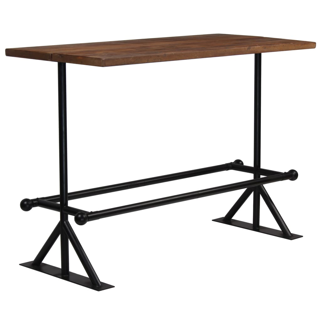 Bar Table Solid Reclaimed Wood Dark Brown 150x70x107 cm 7