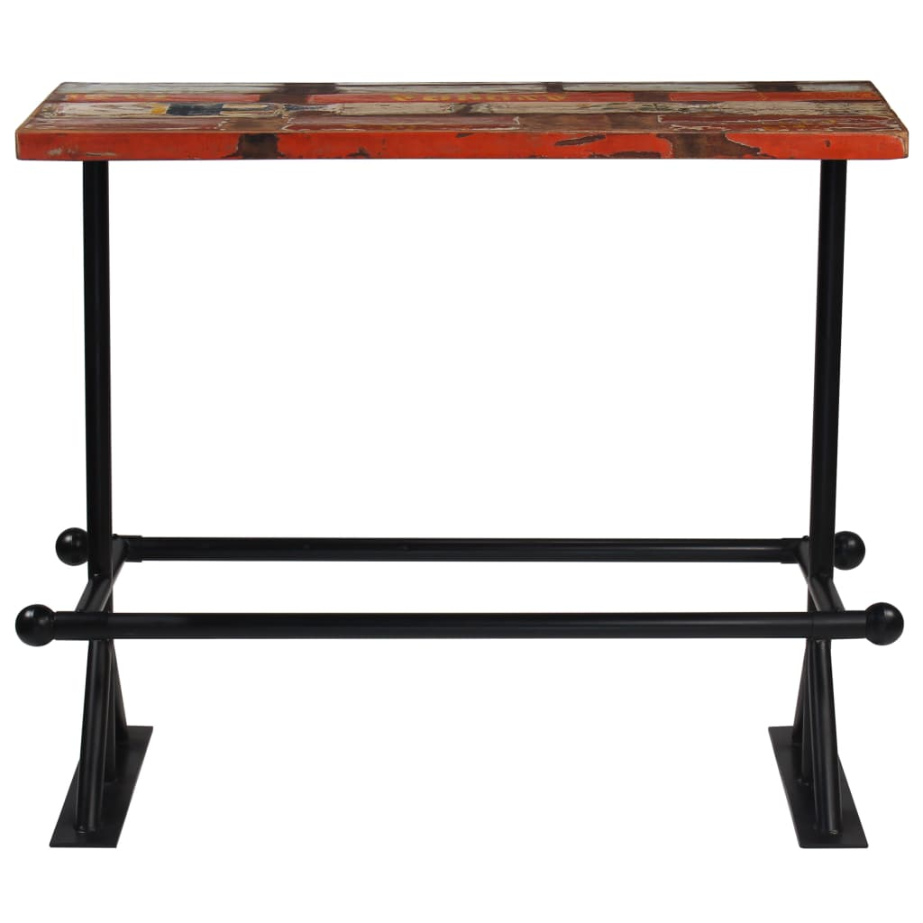 Bar Table Solid Reclaimed Wood Multicolour 120x60x107 cm 2