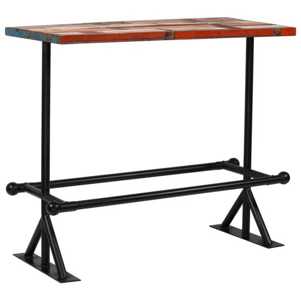 Bar Table Solid Reclaimed Wood Multicolour 120x60x107 cm 11