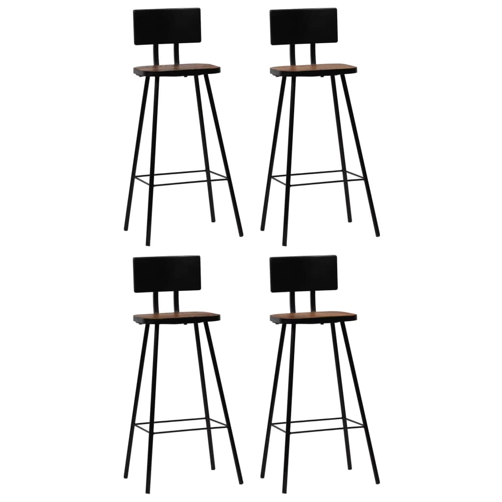 Bar Chairs 4 pcs Solid Reclaimed Wood 1