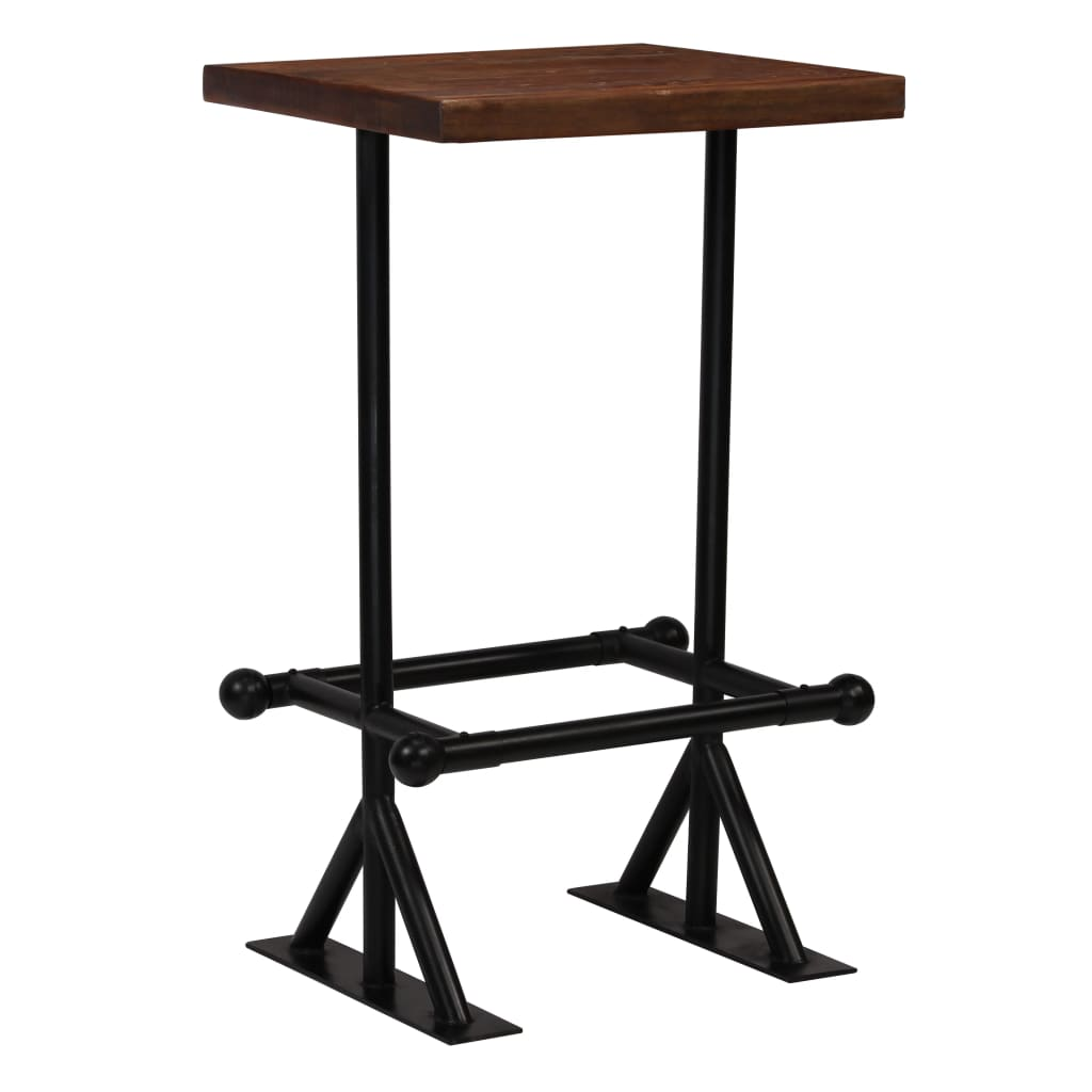 Bar Set 3 Piece Solid Reclaimed Wood 4