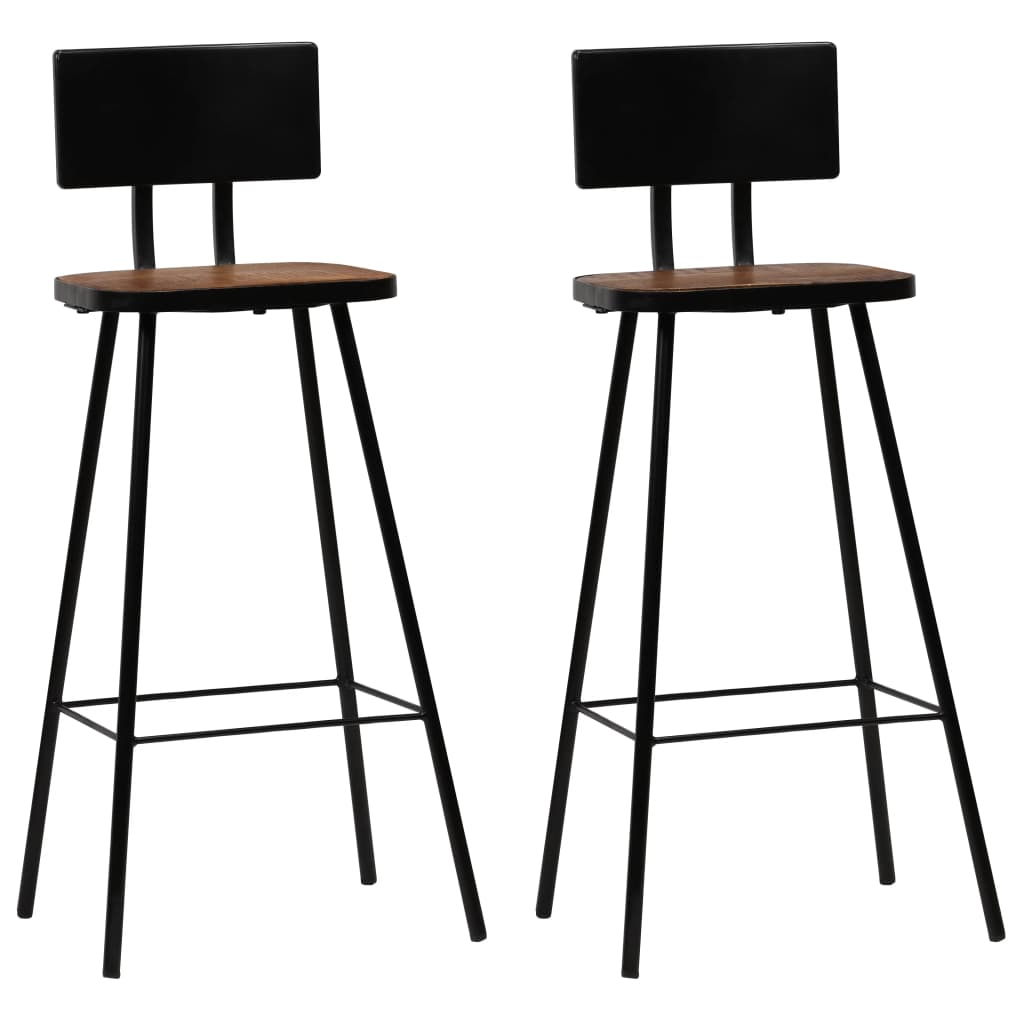 Bar Set 3 Piece Solid Reclaimed Wood 9
