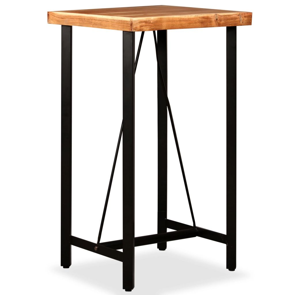 Bar Table 60x60x107 cm Solid Sheesham Wood