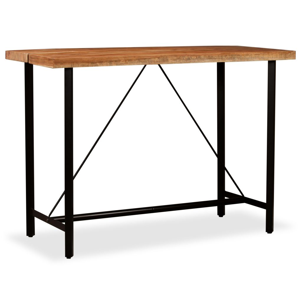 Bar Table 150x70x107 cm Solid Sheesham Wood 1
