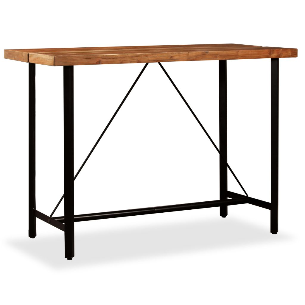Bar Table 150x70x107 cm Solid Sheesham Wood 11