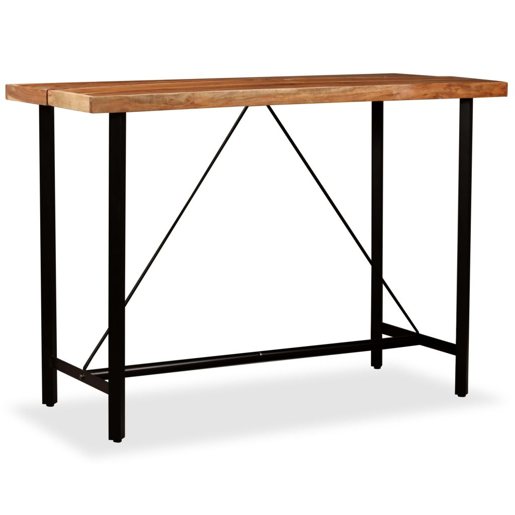 Bar Table 150x70x107 cm Solid Sheesham Wood 8
