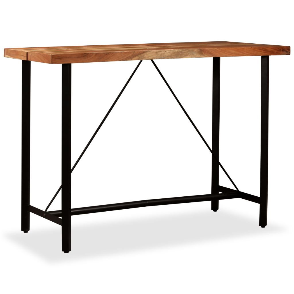 Bar Table 150x70x107 cm Solid Sheesham Wood 9