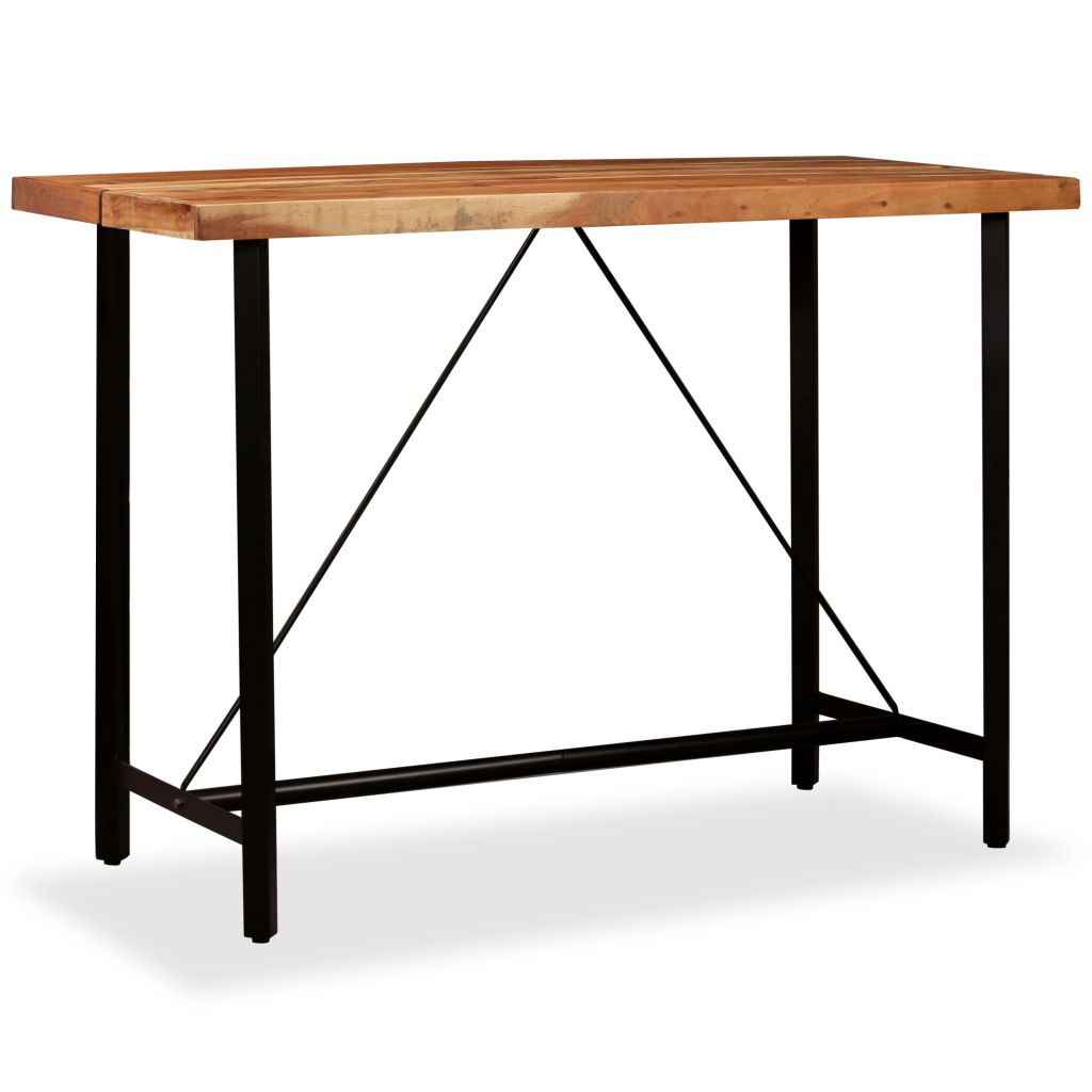 Bar Table 150x70x107 cm Solid Sheesham Wood 10