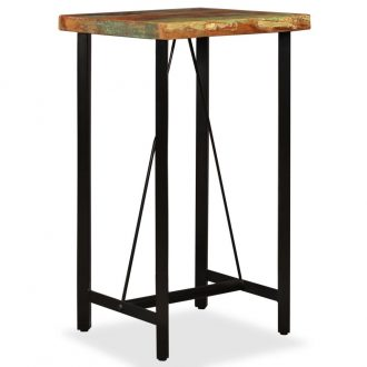 Bar Table 60x60x107 cm Solid Reclaimed Wood 1