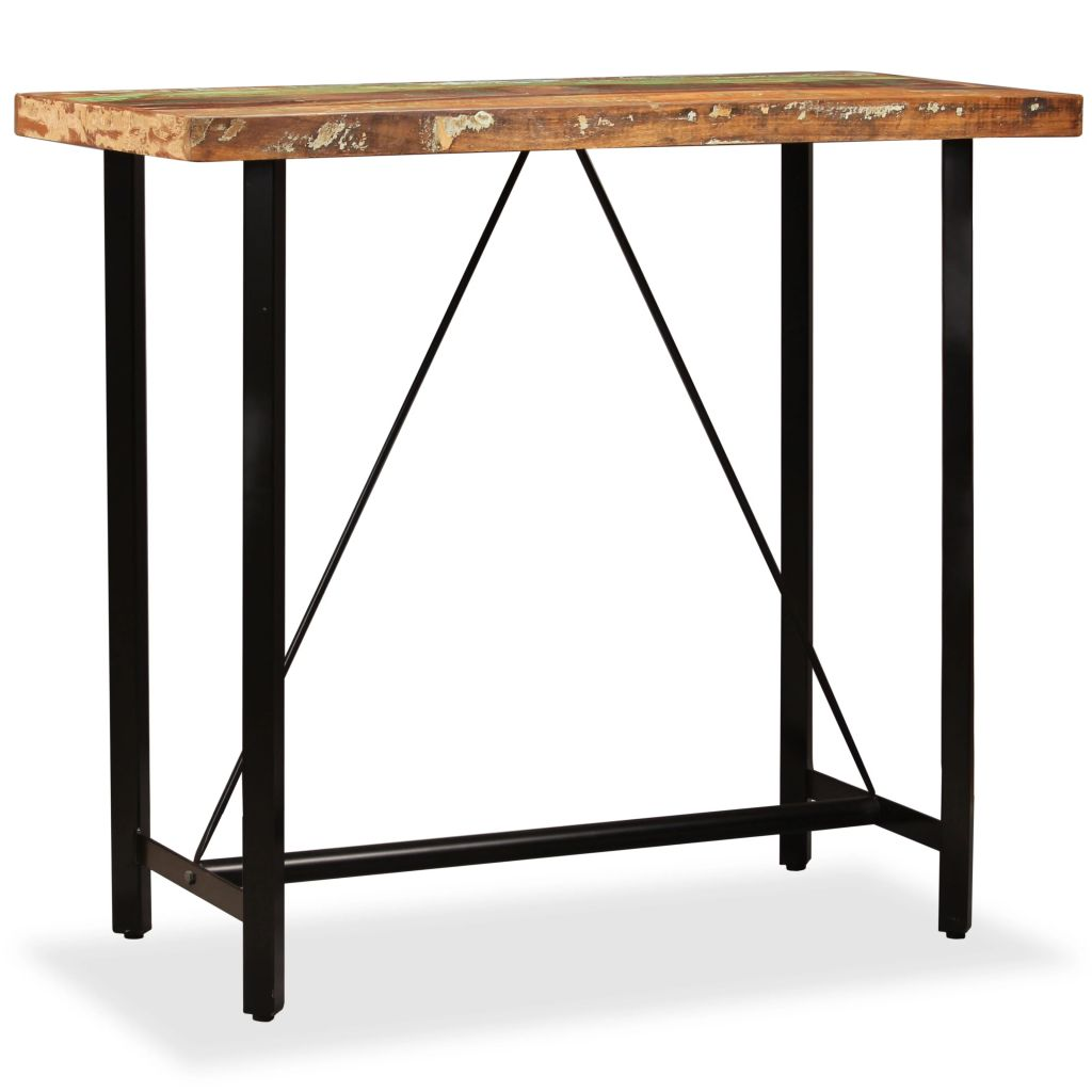 Bar Table 120x60x107 cm Solid Reclaimed Wood