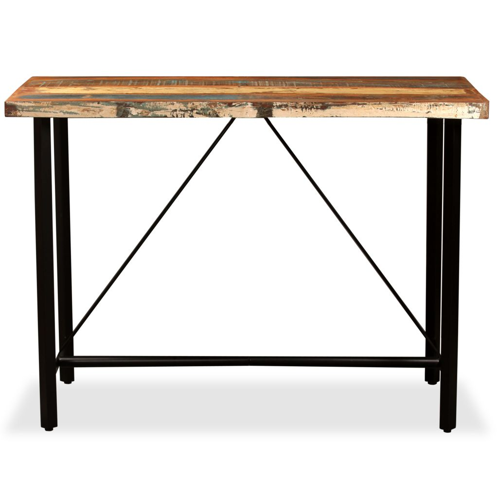 Bar Table 120x60x107 cm Solid Reclaimed Wood 2